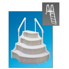 Deluxe Above Ground Pool Step with Outside Ladder