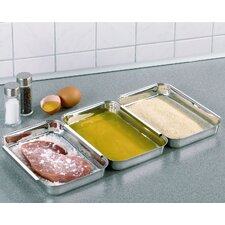 Stainless Steel Batter Tray (Set of 3)