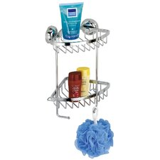 Magic-Loc Shower Corner Rack with 2 Levels