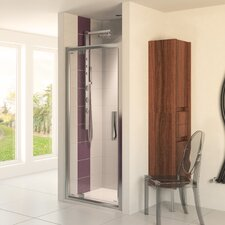 <strong>Aqualux</strong> Aqua 8 Glide Pivot Door Shower Enclosure in Polished Silver