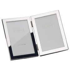 Double Photo Frame Silver Plate Frame