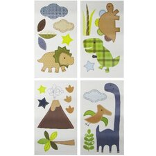 Jill McDonald Adorable Dino Wall Decals 4 Piece Set