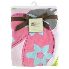 <strong>Triboro</strong> Just Born Jumbo 3D Valboa Applique Pink Ladybug Blanket