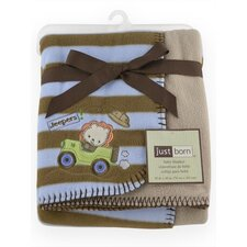 Just Born 2 Ply Lion Reversible Blanket