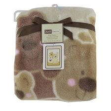 Just Born Hi Pile Bear Blanket