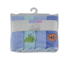 <strong>Triboro</strong> Just Born Woven Terry Washcloths (Set of 4) (Set of 4)