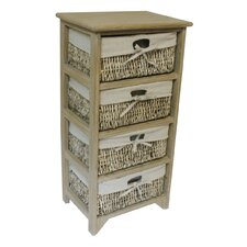 Maize 4 Drawer Wood Cabinet