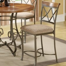 "<strong>Powell Furniture</strong> Cafe Hamilton 24"" Bar Stool with Cushion"