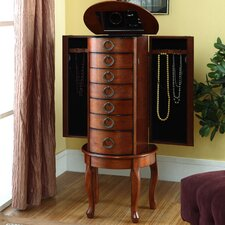 Jewelry Armoire in Burnished Oak