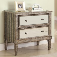 <strong>Powell Furniture</strong> 2 Drawer Mirrored Console