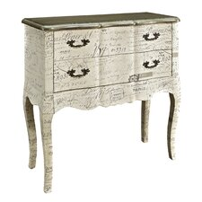 2 Drawer Chest with Fabric