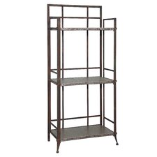"Foundry Antique Pewter Tall  51.63"" Shelf Bookcase"