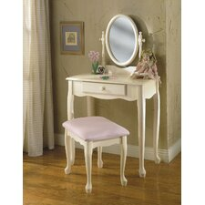 "<strong>Powell Furniture</strong> 28"" Children's Bedroom Vanity Set"