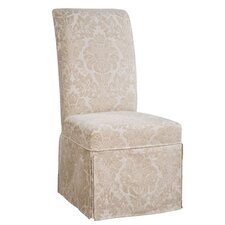 Classic Seating Center Match Fleur-de-lis Tapestry Dining Chair Skirted Slipcover