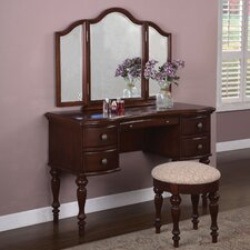 <strong>Powell Furniture</strong> Marquis Cherry Vanity Set with Mirror