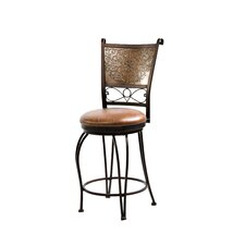 Cafe Stamped Back Counter Stool in Distressed Bronze