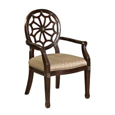 <strong>Powell Furniture</strong> Classic Seating Spider Web Fabric Arm Chair