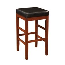 Square Backless Barstool in Cherry