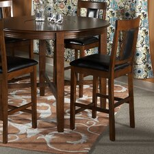 "Addison 24"" Counter Stool in Dark Brown (Set of 2)"