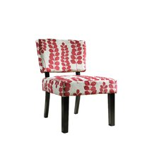 Floral Oliver Fabric Slipper Chair
