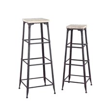 Driftwood Plant Stand (2 piece set) (Set of 2)