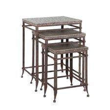 <strong>Powell Furniture</strong> Foundry 3 Piece Nesting Tables