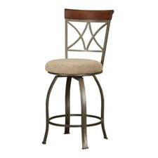 Powell Cafe Swivel Bar Stool with Cushion