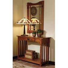Mission Oak Console & Mirror