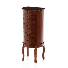 Jewelry Armoire in Woodland Cherry