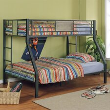 <strong>Powell Furniture</strong> Monster Bedroom Twin over Full Bunk Bed with Built-In Ladder