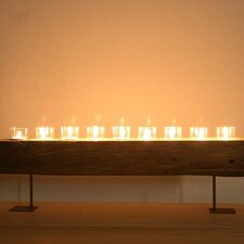 Reclaimed Wood Candle Holder Stand
