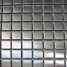 "Metal 11.63"" x 11.63"" Mosaic with Small Squares"