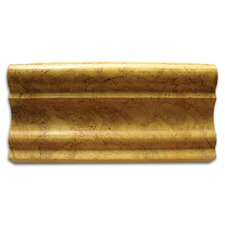 "Stone Accents 1-1/8"" x 12"" Polished Chair Rail in Gold Travertine"
