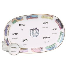 Ten Plagues Porcelain Seder Plate
