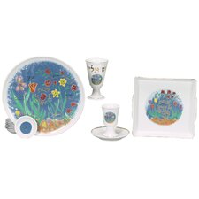 Spring Themed Porcelain Seder Set