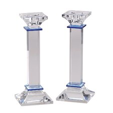 <strong>Israel Giftware Design</strong> Crystal Candlestick (Set of 2)