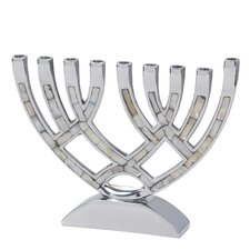 Contemporary Aluminum Menorah