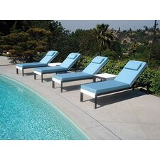 <strong>Modern Outdoor</strong> Etra Lounge Chaise Lounge with Cushion