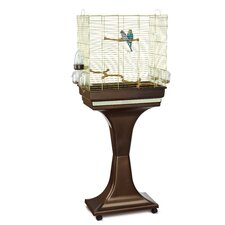 Camilla Bird Cage and Stand in Brass