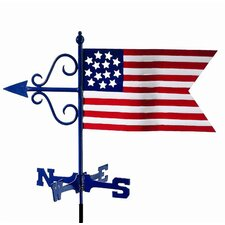 Americana Flag Cottage Weathervane