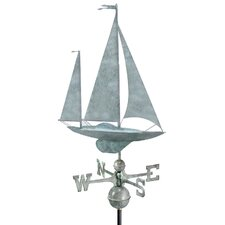 Sailboat Yawl Weathervane