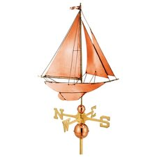 Full Size Weathervane Racing Sloop in Polished
