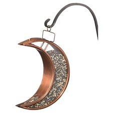 Crescent Moon Decorative Bird Feeder in Bronze