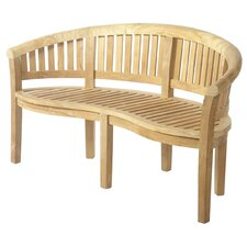 Broadway Teak Banana Bench