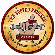 Busted Knuckle Garage Vintage Motorcycle Shop Sign