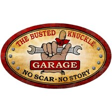 <strong>Almost There</strong> Busted Knuckle Garage Oval Shop Sign