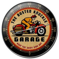 Busted Knuckle Garage Motorcycle Thermometer