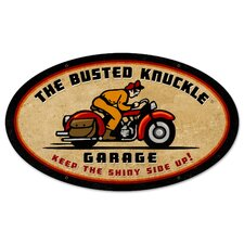 Busted Knuckle Garage Oval Motorcycle Vintage Advertisement