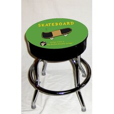 <strong>Almost There</strong> Busted Knuckle Garage Kid's Swivel Skateboard Stool