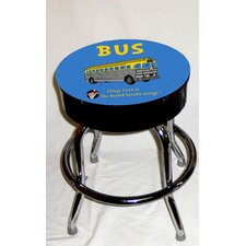 Busted Knuckle Garage Kid's Swivel Old Bus Stool